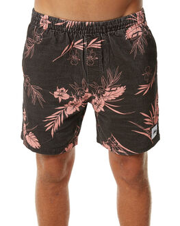 BLACK MENS CLOTHING STUSSY SHORTS - ST073602BLK