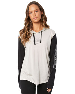 GREY HEATHER WOMENS CLOTHING HURLEY TEES - AGTLSCPR05A