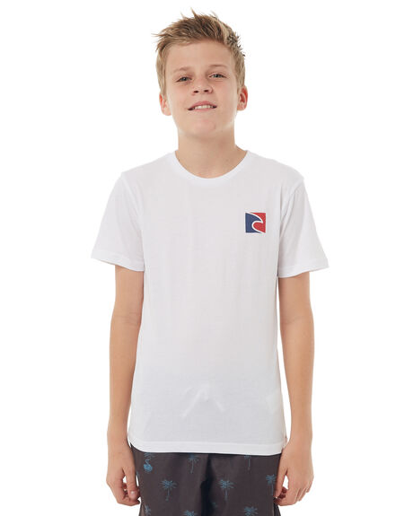 WHITE KIDS BOYS RIP CURL TEES - KTEFW21000