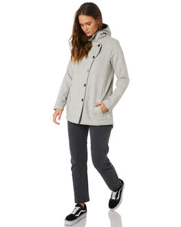 GREY HEATHER WOMENS CLOTHING HURLEY JACKETS - AGJTDAYT050