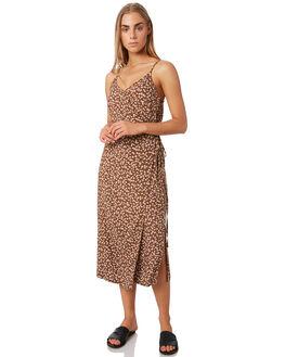 BROWN DITSY WOMENS CLOTHING ELWOOD DRESSES - W937166HL