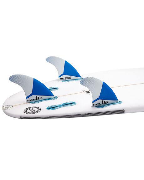 BLUE WHITE BOARDSPORTS SURF FCS FINS - FJSM-PC01-FS-RBLWHT