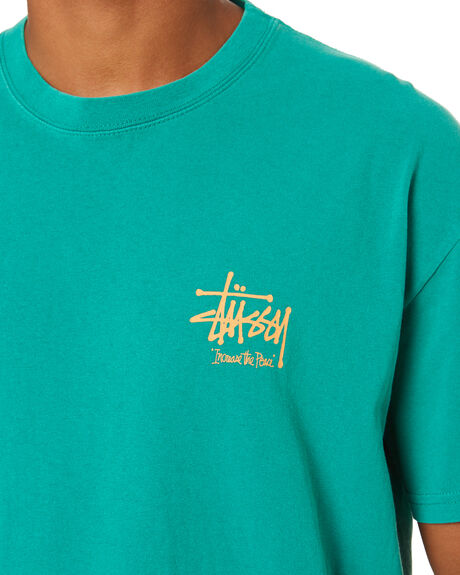 PIGMENT HUNTER GREEN MENS CLOTHING STUSSY TEES - ST001005PGHGR