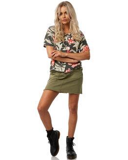ARMY GREEN WOMENS CLOTHING THRILLS SKIRTS - WTH8-306FARMY
