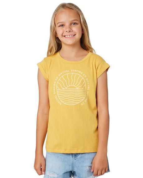 LIGHT YELLOW KIDS GIRLS RIP CURL TOPS - JTEDW14094