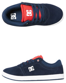 NAVY WHITE KIDS BOYS DC SHOES SNEAKERS - ADBS100209NVW