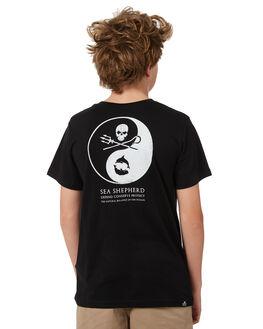 BLACK KIDS BOYS SEA SHEPHERD TEES - SSA862ABLK