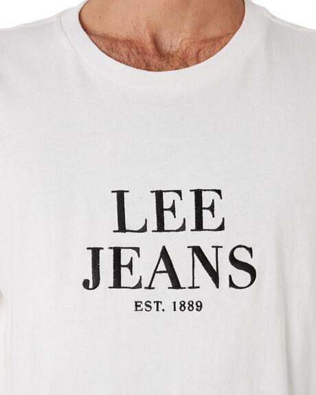 VINTAGE WHITE MENS CLOTHING LEE TEES - 601930922