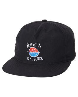 BLACK MENS ACCESSORIES RVCA HEADWEAR - R181570BLK