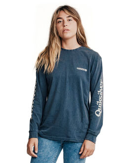BLUE NIGHTS WOMENS CLOTHING QUIKSILVER TEES - EQWKT03002-BST0