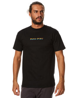 BLACK MENS CLOTHING PASS PORT TEES - PRDTEEBLK