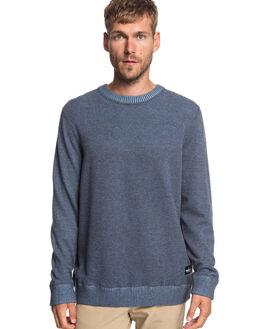 NAVY BLAZER HEATHER MENS CLOTHING QUIKSILVER KNITS + CARDIGANS - EQYSW03237-BYJH