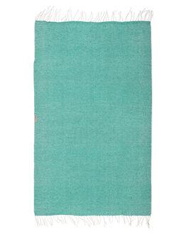 SEAFOAM WOMENS ACCESSORIES LEUS TOWELS HOME + BODY - 01BKFASFSFM