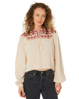 DUST TAN WOMENS CLOTHING SAINT HELENA FASHION TOPS - SHS192131BDSTTN