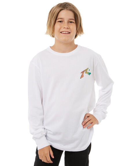 WHITE KIDS BOYS RUSTY TOPS - TTB0573WHT