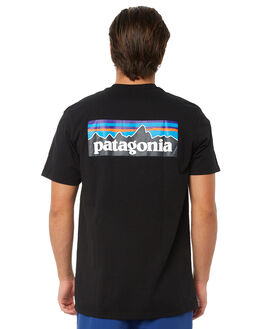 BLACK MENS CLOTHING PATAGONIA TEES - 39174BLK