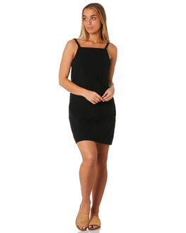 BLACK WOMENS CLOTHING RUSTY DRESSES - DRL0980BLK