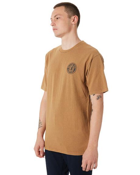 TOBACCO MENS CLOTHING BRIXTON TEES - 06519TOBAC