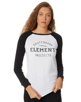 WHITE WOMENS CLOTHING ELEMENT TEES - 286051WHT