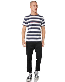 NAVY GREY WHITE OUTLET MENS LOWER TEES - LO19Q3MTS17NGW