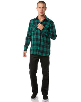 FOREST GREEN MENS CLOTHING PASS PORT SHIRTS - R23WORKERSFGRN