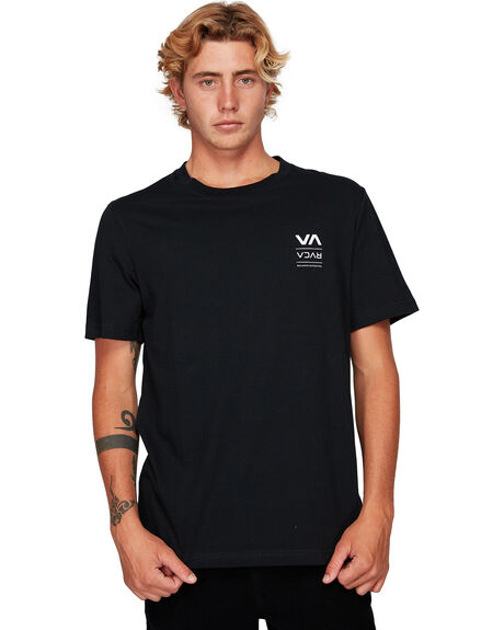 BLACK MENS CLOTHING RVCA TEES - RV-R192043-BLK