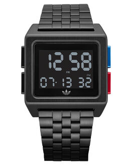 ALL BLACK BLUE RED MENS ACCESSORIES ADIDAS WATCHES - Z01-3042-00ABLKBR