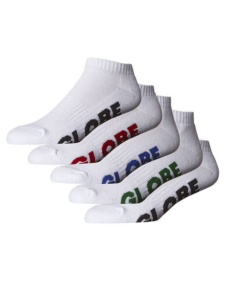 WHITE MENS ACCESSORIES GLOBE SOCKS + UNDERWEAR - GB71139045WHI