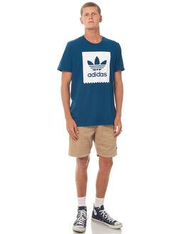 BLUE MENS CLOTHING ADIDAS ORIGINALS TEES - BR5010BLU