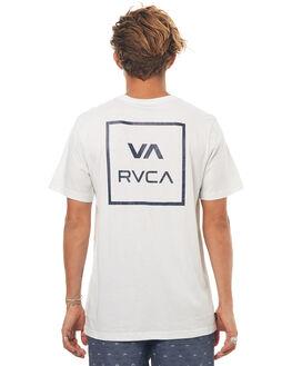SILVER BLEACH MENS CLOTHING RVCA TEES - R172062SBLEA