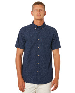 BLUE WHITE MENS CLOTHING ACADEMY BRAND SHIRTS - 19S847BWHT