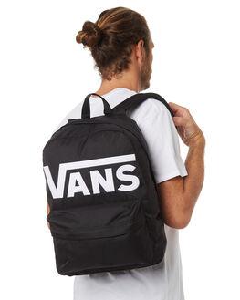 BLACK WHITE MENS ACCESSORIES VANS BAGS + BACKPACKS - VN-0ONIY28BKW