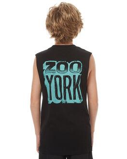 BLACK KIDS BOYS ZOO YORK SINGLETS - ZY-YTC7134BLK