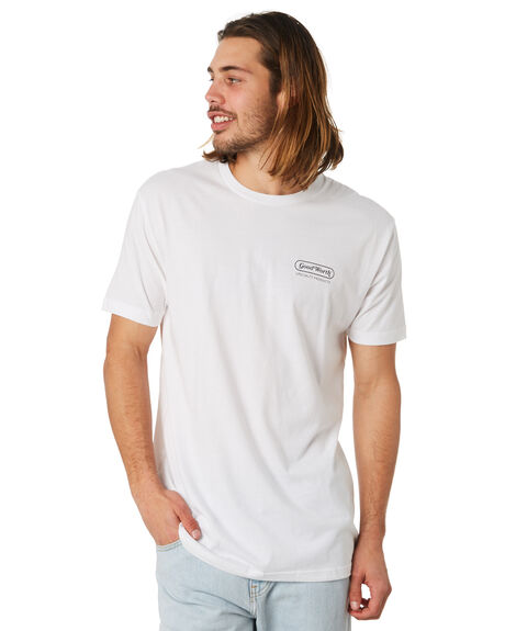 WHITE OUTLET MENS GOOD WORTH TEES - TLP1821WHT