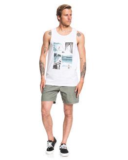 WHITE MENS CLOTHING QUIKSILVER SINGLETS - EQYZT05680-WBB0