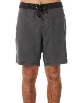 BLACK OIL MENS CLOTHING AFENDS BOARDSHORTS - 10-01-076BLKOI
