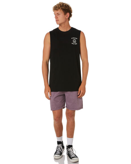 BLACK MENS CLOTHING SWELL SINGLETS - S5202275BLACK