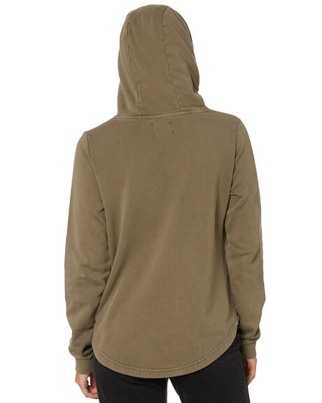 MILTANT GREEN WOMENS CLOTHING SILENT THEORY HOODIES + SWEATS - 6054010MILT