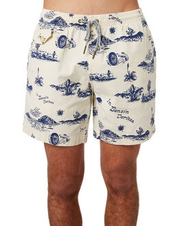ECRU SPRINGS MENS CLOTHING DEUS EX MACHINA BOARDSHORTS - DMS82633ECRU