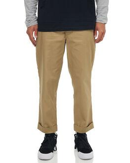 KHAKI MENS CLOTHING DC SHOES PANTS - EDYNP03134CLM0