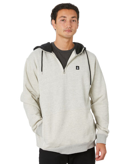 HEATHER GREY MENS CLOTHING VOLCOM JUMPERS - A4112011HGR