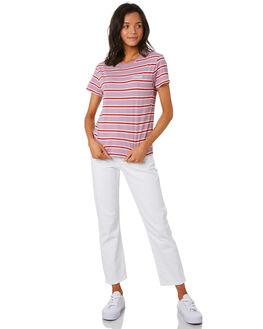 LILAC STRIPE WOMENS CLOTHING WRANGLER TEES - W-951357-KK8