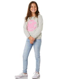 GREY MARLE KIDS GIRLS SANTA CRUZ JUMPERS + JACKETS - SC-GFA0149GMARL