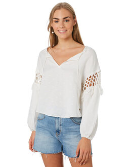 WHITE WOMENS CLOTHING TIGERLILY FASHION TOPS - T392050WHI
