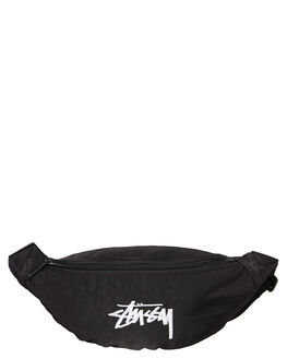 BLACK MENS ACCESSORIES STUSSY BAGS + BACKPACKS - ST796012BLK