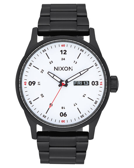 BLACK WHITE MENS ACCESSORIES NIXON WATCHES - A356-005-00BLKWH