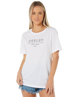 WHITE WOMENS CLOTHING HURLEY TEES - AGTSENJ-100