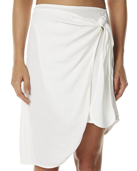WHITE WOMENS CLOTHING ZULU AND ZEPHYR SKIRTS - ZZ1292WHT