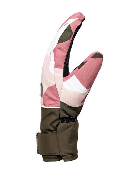 DUSTY ROSE CAMO BOARDSPORTS SNOW DC SHOES GLOVES - EDJHN03015-MKP6