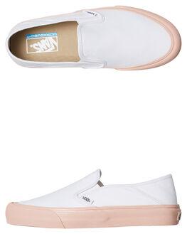 WHITE WOMENS FOOTWEAR VANS SLIP ONS - SSVNA3MVDQC2WHTW